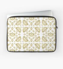 Queen of Hearts gold crown tiara tossed about by Kristie Hubler Laptop Sleeve