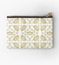 Queen of Hearts gold crown tiara tossed about by Kristie Hubler Studio Pouch