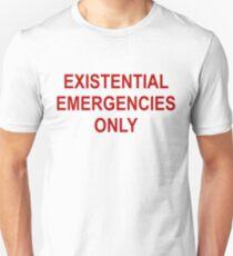 Existenzielle Notfälle Slim Fit T-Shirt
