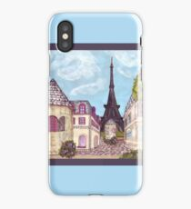 Paris Eiffel Tower inspired impressionist landscape by Kristie Hubler iPhone Case