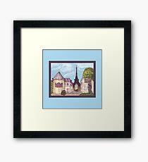 Paris Eiffel Tower inspired impressionist landscape by Kristie Hubler Framed Print