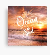 The voice of the ocean Canvas Print