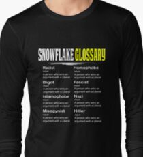 36823af74 Funny Conservative Design Snowflake Glossary Long Sleeve T-Shirt