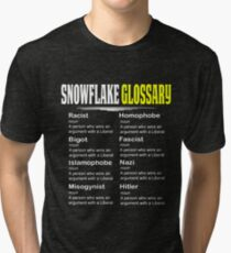 Funny Conservative Design Snowflake Glossary Tri-blend T-Shirt