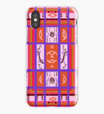Curvy Plaid Abstract Feminine Folk Art by Kristie Hubler iPhone Case