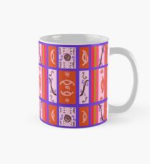 Curvy Plaid Abstract Feminine Folk Art by Kristie Hubler Mug