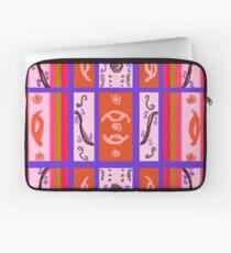 Curvy Plaid Abstract Feminine Folk Art by Kristie Hubler Laptop Sleeve
