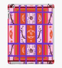 Curvy Plaid Abstract Feminine Folk Art by Kristie Hubler iPad Case/Skin