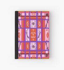 Curvy Plaid Abstract Feminine Folk Art by Kristie Hubler Hardcover Journal