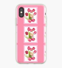 9 bunches of Pink Tulip Flowers by Kristie Hubler iPhone Case