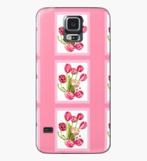 9 bunches of Pink Tulip Flowers by Kristie Hubler Case/Skin for Samsung Galaxy