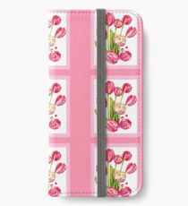 9 bunches of Pink Tulip Flowers by Kristie Hubler iPhone Wallet/Case/Skin