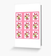 9 bunches of Pink Tulip Flowers by Kristie Hubler Greeting Card