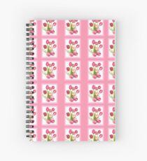 9 bunches of Pink Tulip Flowers by Kristie Hubler Spiral Notebook