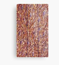 Wood Planks Pointillism by Kristie Hubler Metal Print