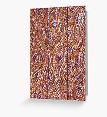Wood Planks Pointillism by Kristie Hubler Greeting Card