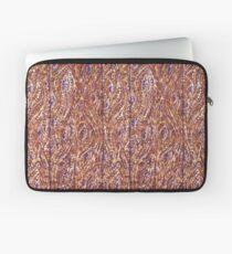 Wood Planks Pointillism by Kristie Hubler Laptop Sleeve