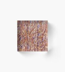 Wood Planks Pointillism by Kristie Hubler Acrylic Block