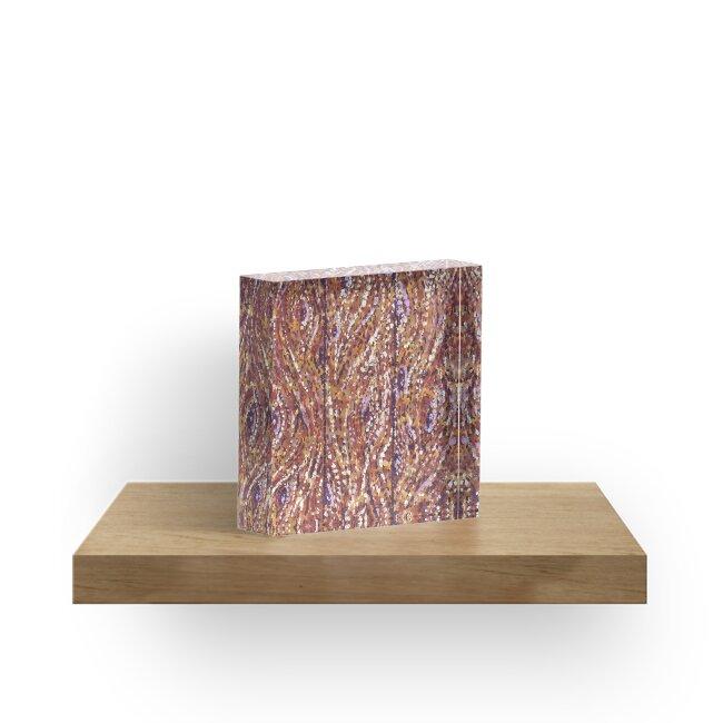 Wood Planks Pointillism by Kristie Hubler by kristiehubler
