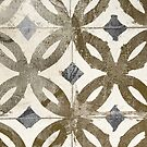 Geometric Gold Pattern Tile by mindydidit