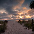 Sunset Beach Path by peaceriverphoto