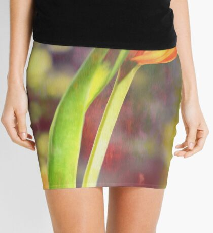 Romantic Tulip Mini Skirt