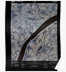 USGS TOPO Map Illinois IL Olmsted 20100329 TM Inverted Poster