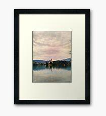Lake Bled Fairy Tale Framed Print