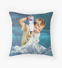 Snow Grey Throw Pillow