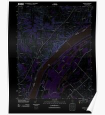 USGS TOPO Map Illinois IL Olmsted 20120808 TM Inverted Poster