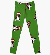 A Basset Full of Christmas Leggings