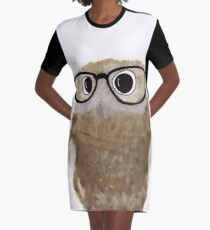 Owl Be Seeing You Graphic T-Shirt Dress