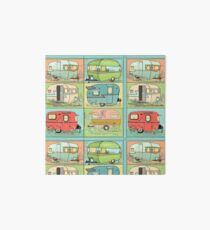 Camping Glamping in Vintage Trailers! Art Board