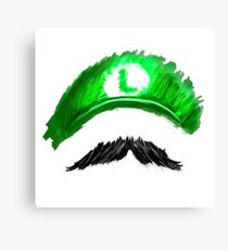 LUIGI Mustachio! Canvas Print