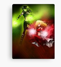 Two Super Heroes Canvas Print