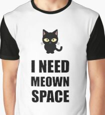 Need Meown Space Cat Graphic T-Shirt