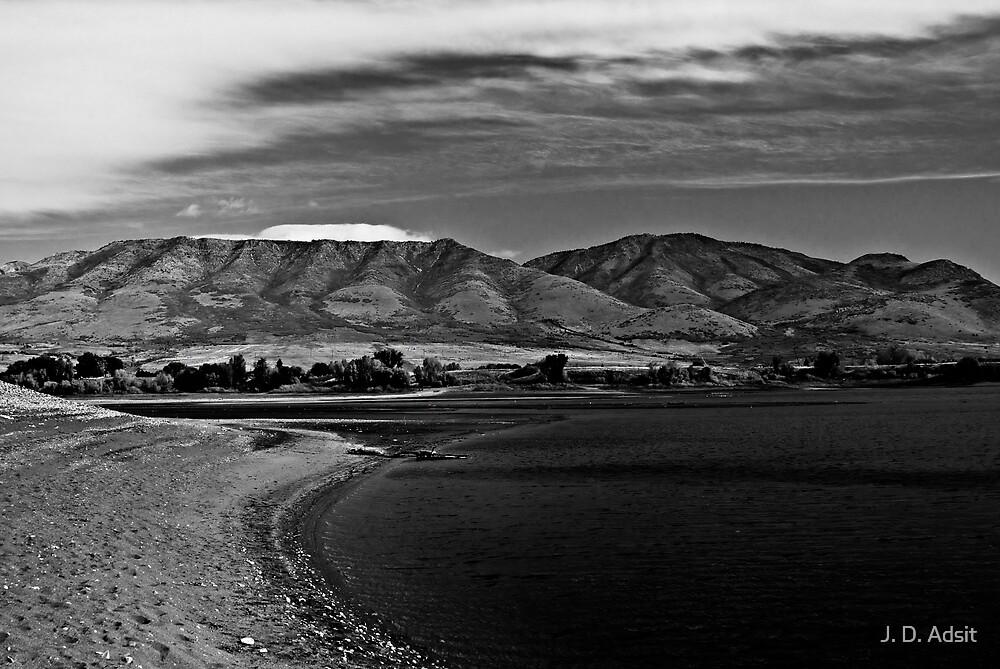 Black & White Crescent by J. D. Adsit