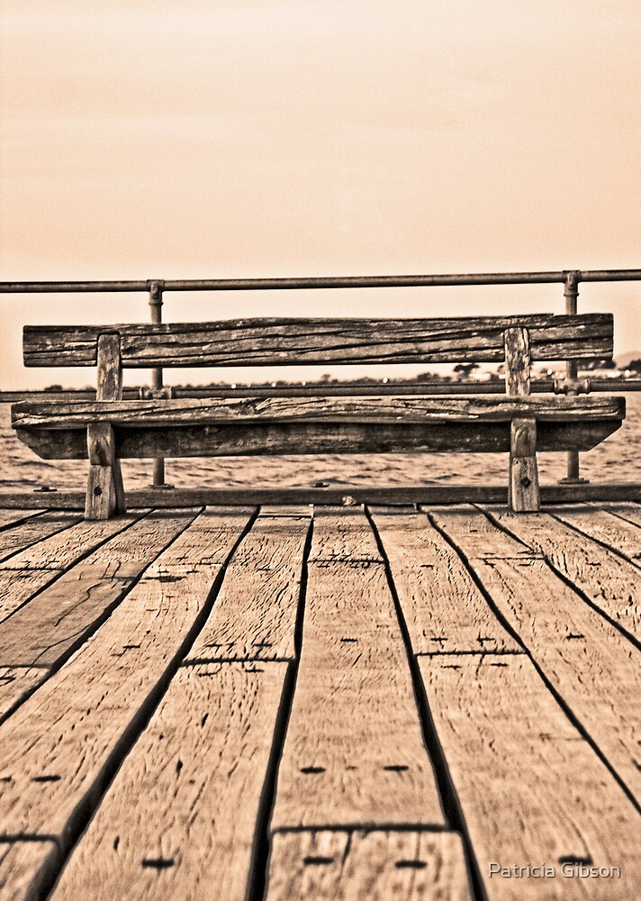 Bench at Frankston Pier by Patricia Gibson