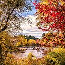 Autumn on the Contoocook by peaceriverphoto