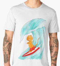 Triceratops surf dude Men's Premium T-Shirt