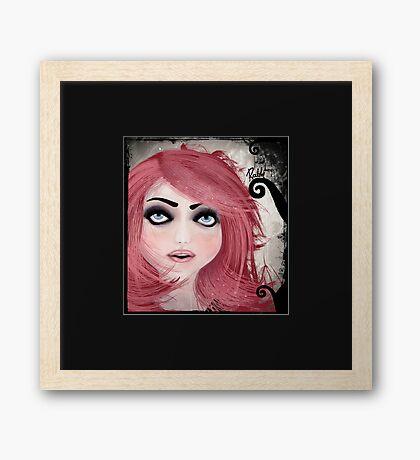 Dear little doll series... MUFFIE Framed Print