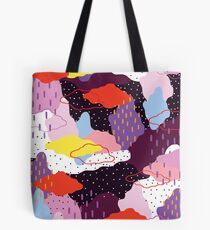Violet hiver Tote bag