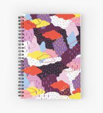 Purple Winter Spiral Notebook