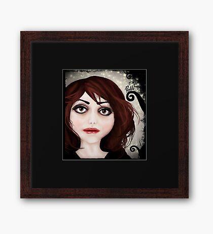 Dear little doll series... POLLY Framed Print