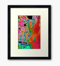 Margaritaville Mermaid Pyschedelicized Framed Print