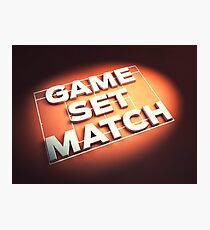 Game Set Match Photographic Print