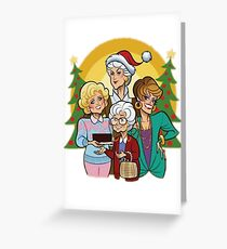Golden Holiday Greeting Card