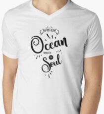 The voice of the ocean (black on White) T-Shirt