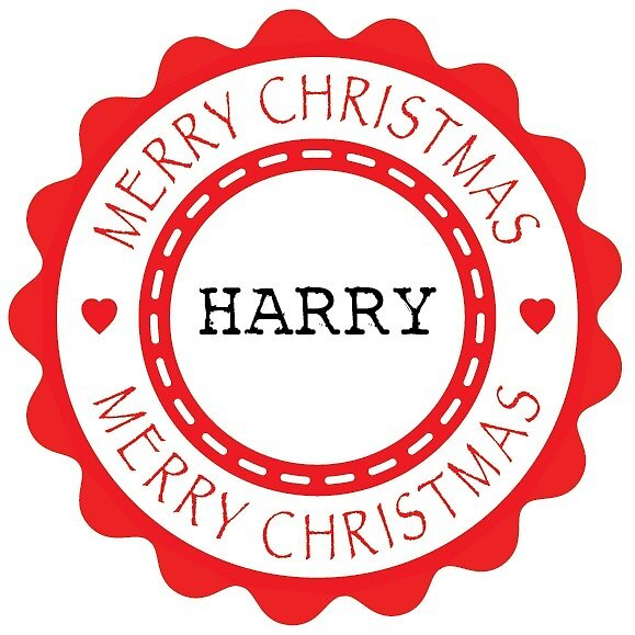 Merry Christmas - Adult Harry x 4 (Personalised) by Bessibury