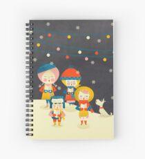 Christmas Carols Singers Spiral Notebook